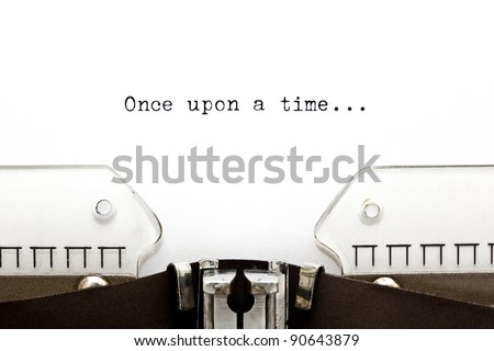 Once upon a time... written on an old typewriter - stock photo