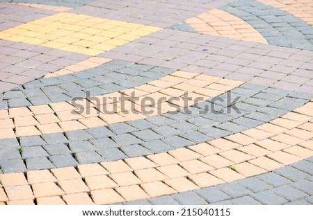 oncrete pavings block pattern texture - stock photo