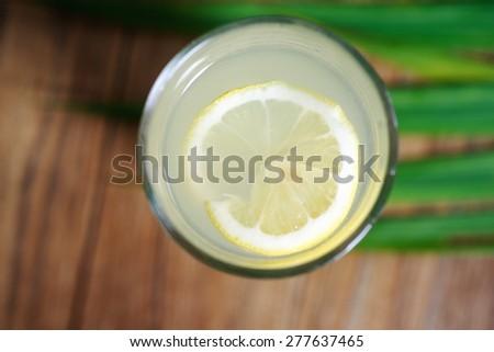 One bitter lemon drink closeup photo  - stock photo