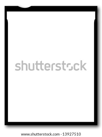 One Blank Piece Of 4x5 Inch Sheet Film, Large Format - stock photo