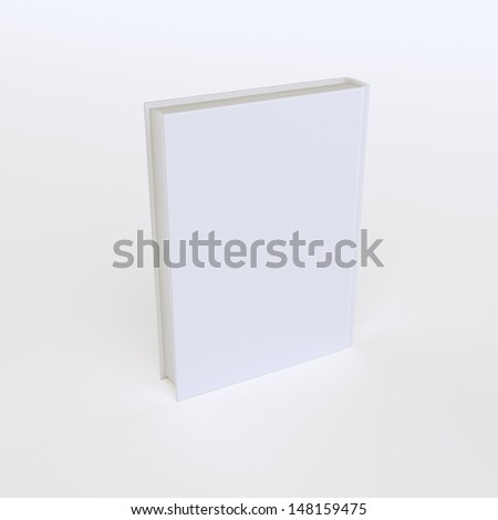 One Book Isolated On White (Advertising Picture) First Version - stock photo
