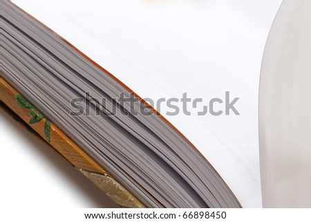 One book on white background.