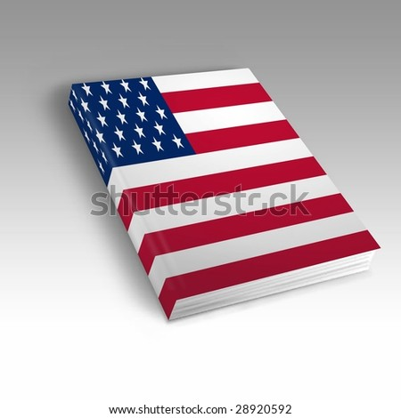 One book with the American flag printed