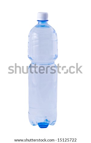 One bottle of water - isolated object