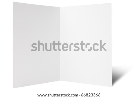 One break fold flyer - stock photo