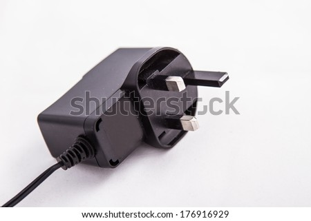 One British plug  - stock photo