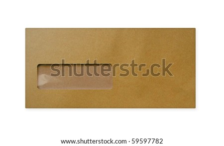 one Brown Envelope  on white background