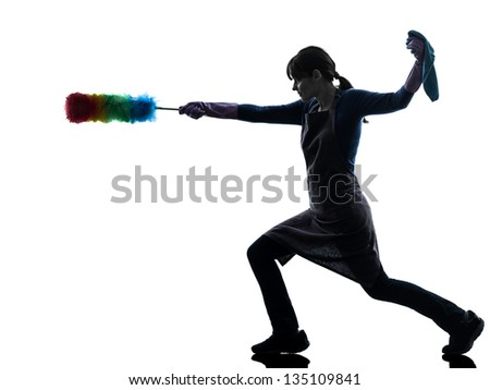 Cleaning Silhouette Stock Images Royalty Free Images
