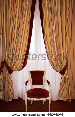 one chair in room - stock photo