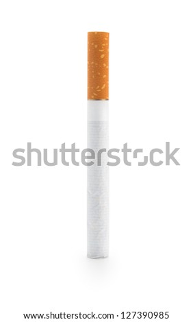 One Cigarette, isolated on white background - stock photo