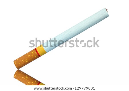 One Cigarette isolated on white background