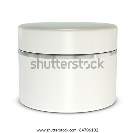 One 3d hand cream box with blank space for general purpose - stock photo
