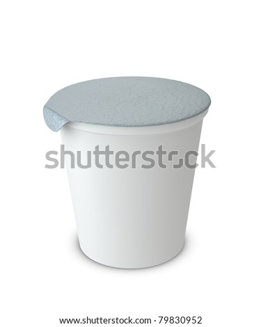 One 3d yogurt cup with blank space for general purpose