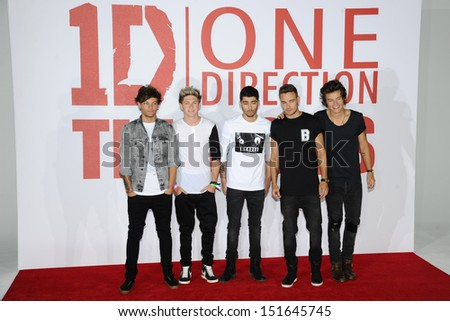 One Direction at the One Direction This is Us film - press conference, London. 19/08/2013 - stock photo