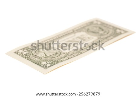 One dollar banknote isolated on white - stock photo