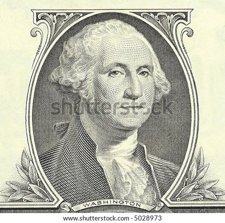 One dollar banknote - portrait of President George Washington. - stock photo