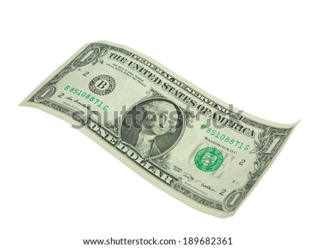 One dollar bill isolated on white