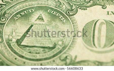 one dollar closeup - stock photo