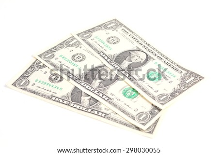 One dollar isolated - stock photo