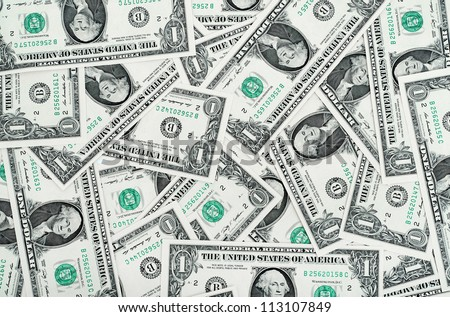 one Dollars background - stock photo