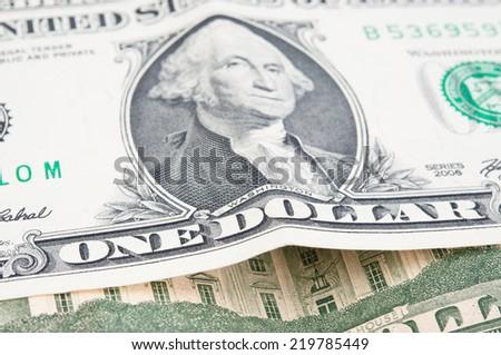 One dollars close-up  - stock photo