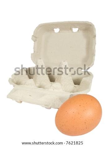 one egg near box - stock photo