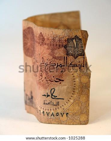 One Egyptian pound – money dollars - stock photo
