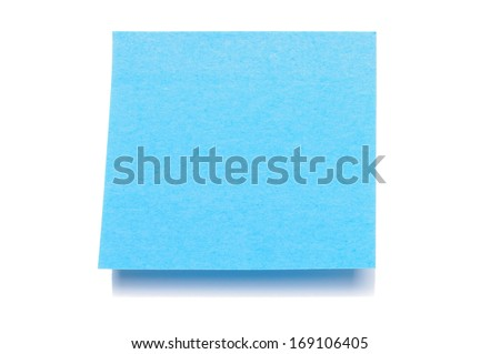 One empty sticky note - stock photo