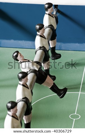 One fall out of alignment - stock photo