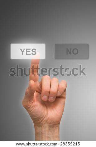 one finger - stock photo