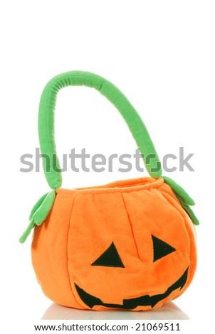 One finny and orange Halloween bag - stock photo