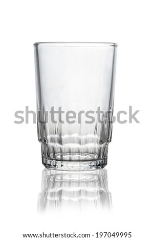 one glass empty on white background. - stock photo