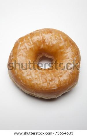 One Glazed Doughnut - stock photo