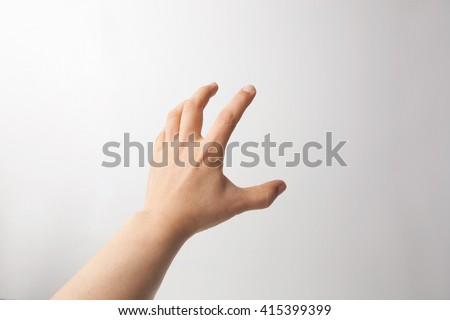 one hand gesture - stock photo