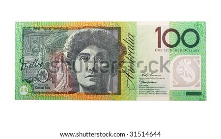 one hundread dollar australian bill - stock photo