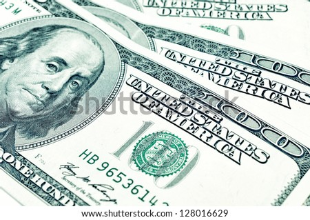 One Hundred American dollars - stock photo