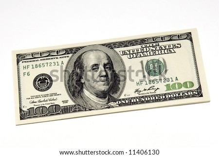 One hundred dollar - stock photo