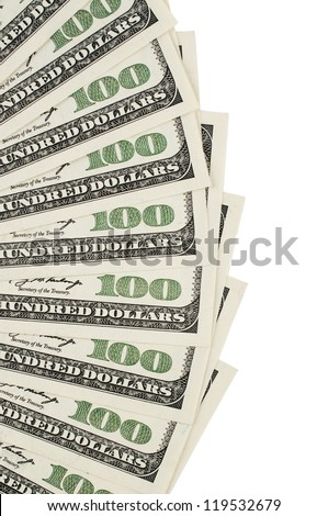 One hundred dollar background - stock photo