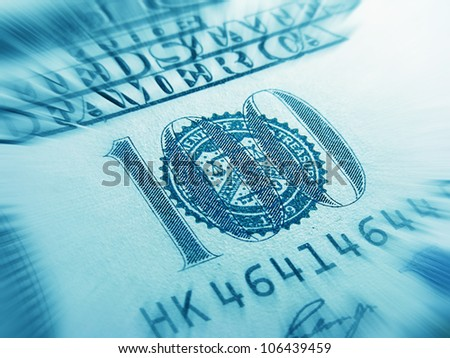 One hundred dollar banknote - stock photo