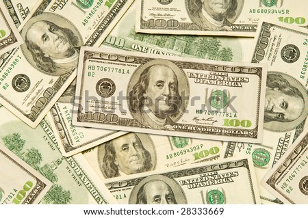 One Hundred Dollar Bills of American Currency