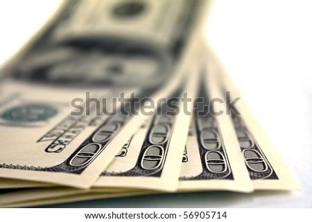 One hundred dollar moneys - stock photo