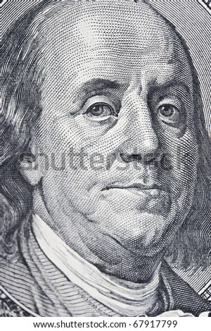 One hundred dollar on a white background - stock photo
