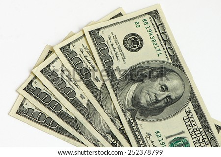 One Hundred Dollars - stock photo