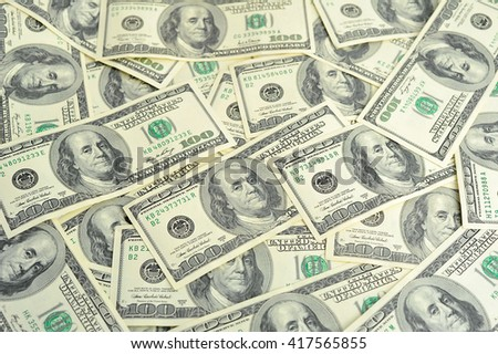 one hundred dollars. - stock photo