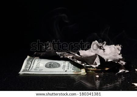 One hundred dollars ashes