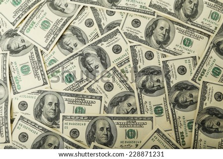 One hundred dollars bill background