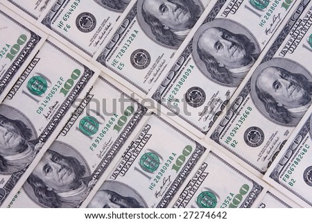 One hundred dollars  money - background .