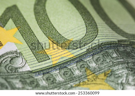 one hundred euro - stock photo