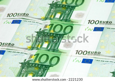 One Hundred Euro Background - European Currency