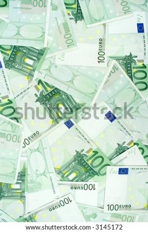 One Hundred Euro Banknotes - stock photo